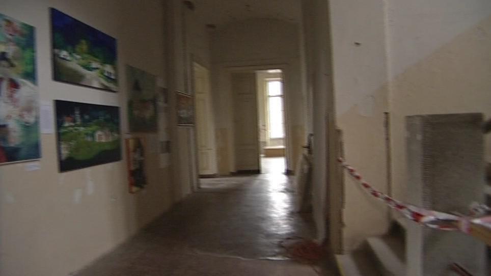 Interiér zámku v Bzenci