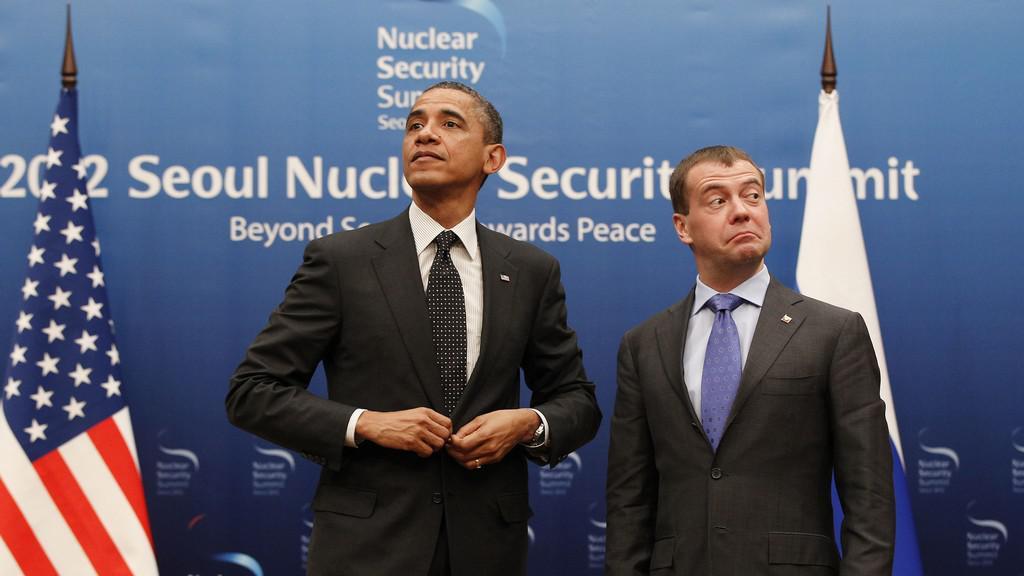 Barack Obama a Dmitrij Medvěděv