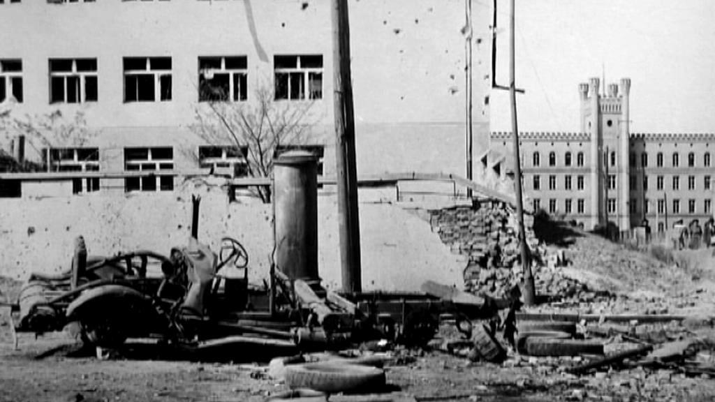 Škody po náletech v roce 1945