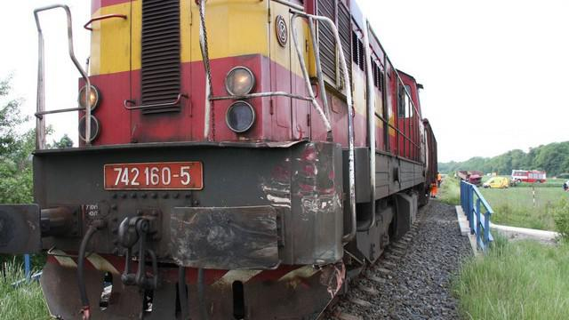 Poškozená lokomotiva