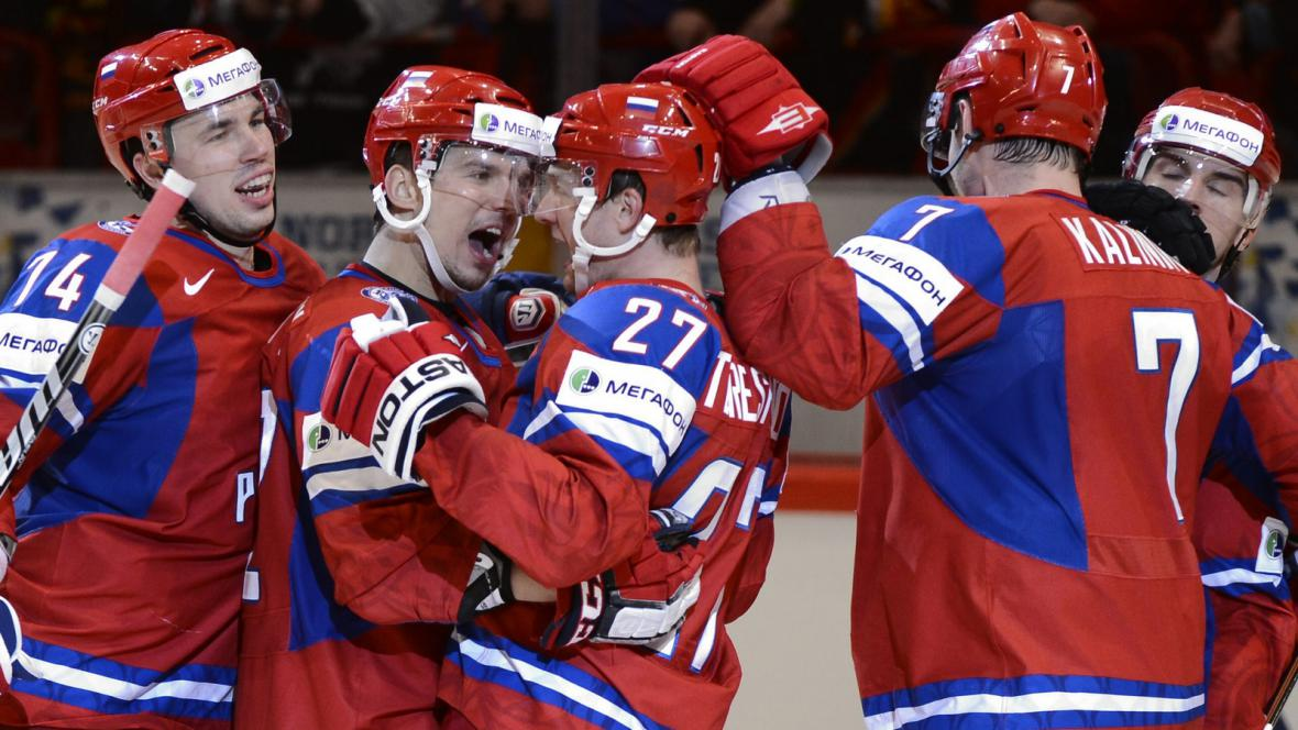 Radost hokejistů Ruska