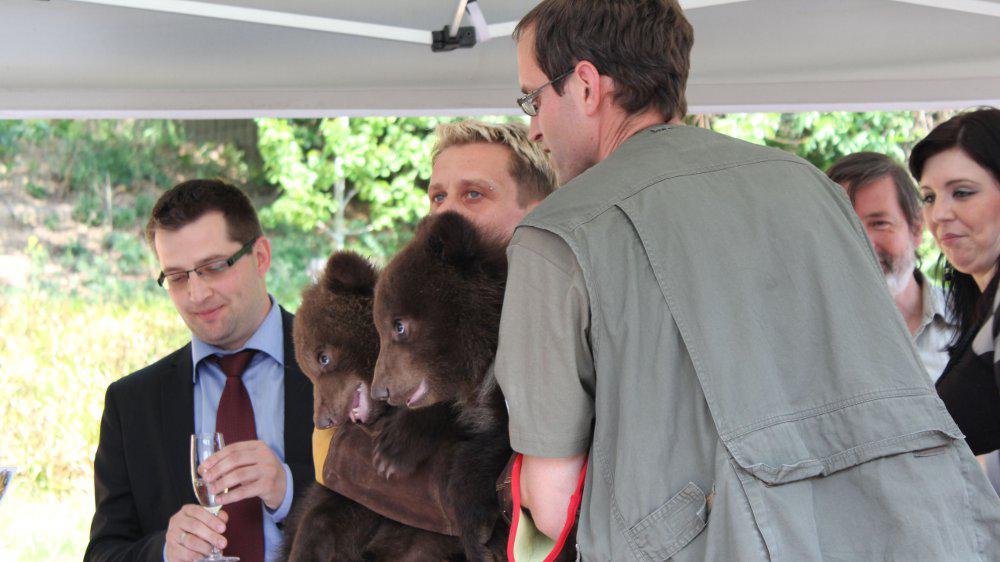 Medvídci dostali jména Toby a Kuba