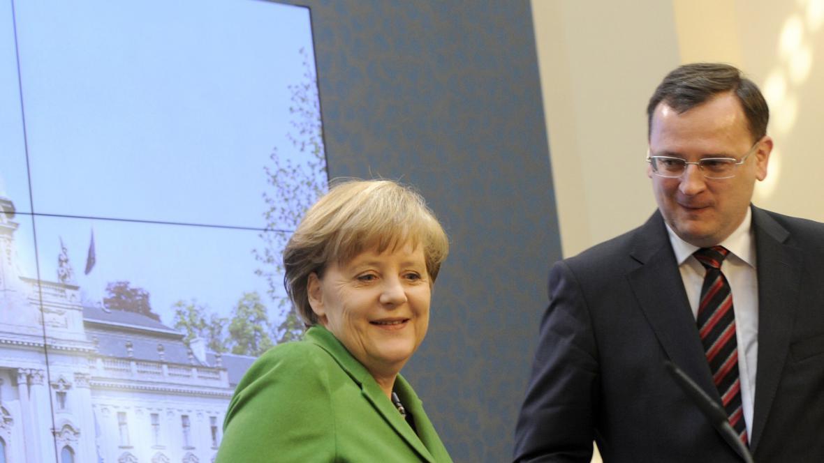 Merkelová na návštěvě ČR