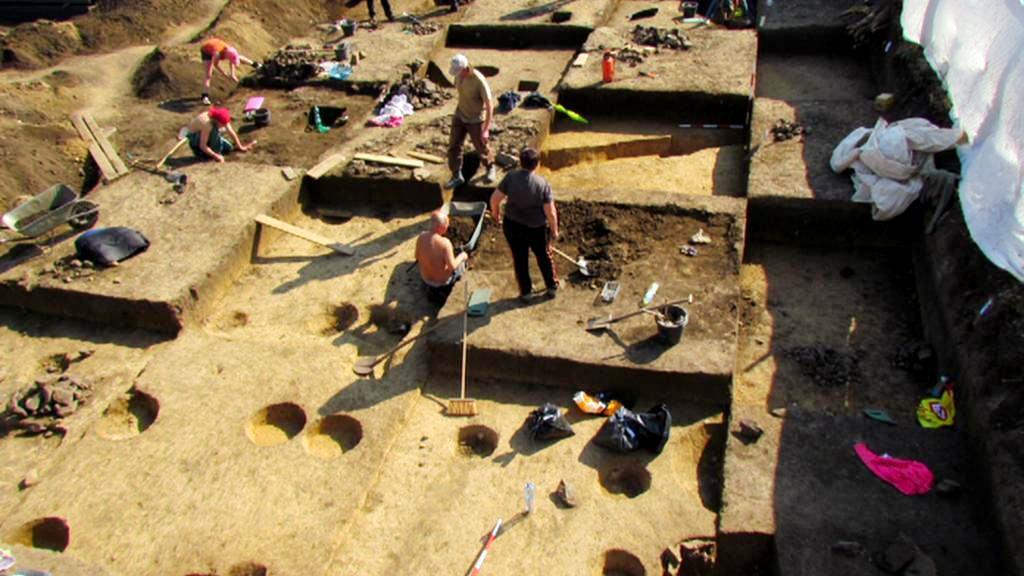 Archeologické práce v Bubenči