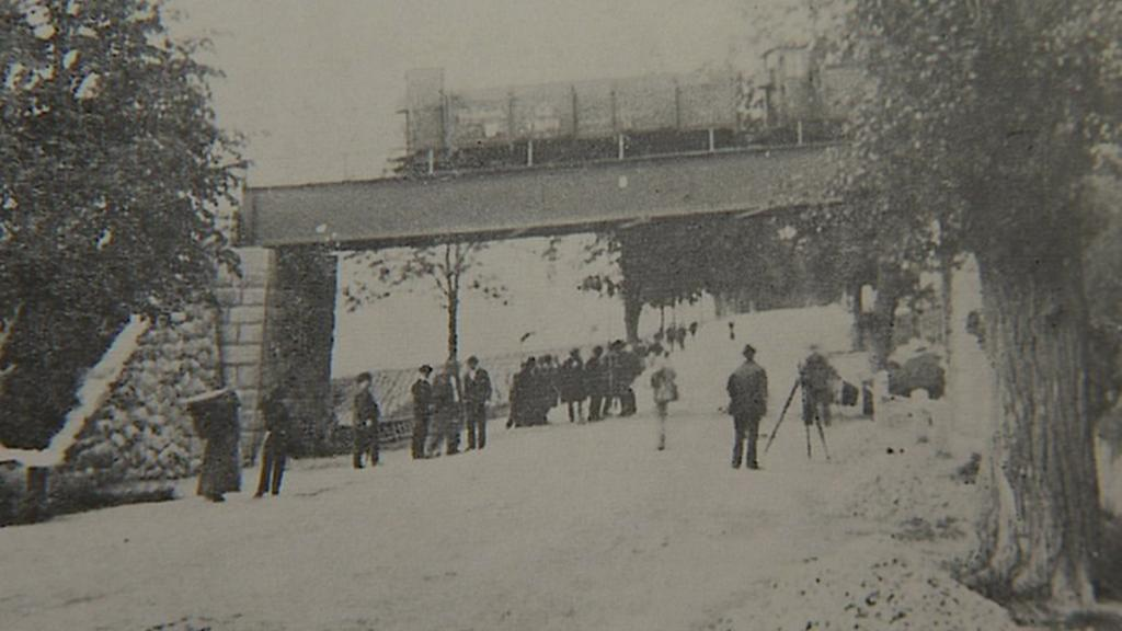 Historické foto mostu