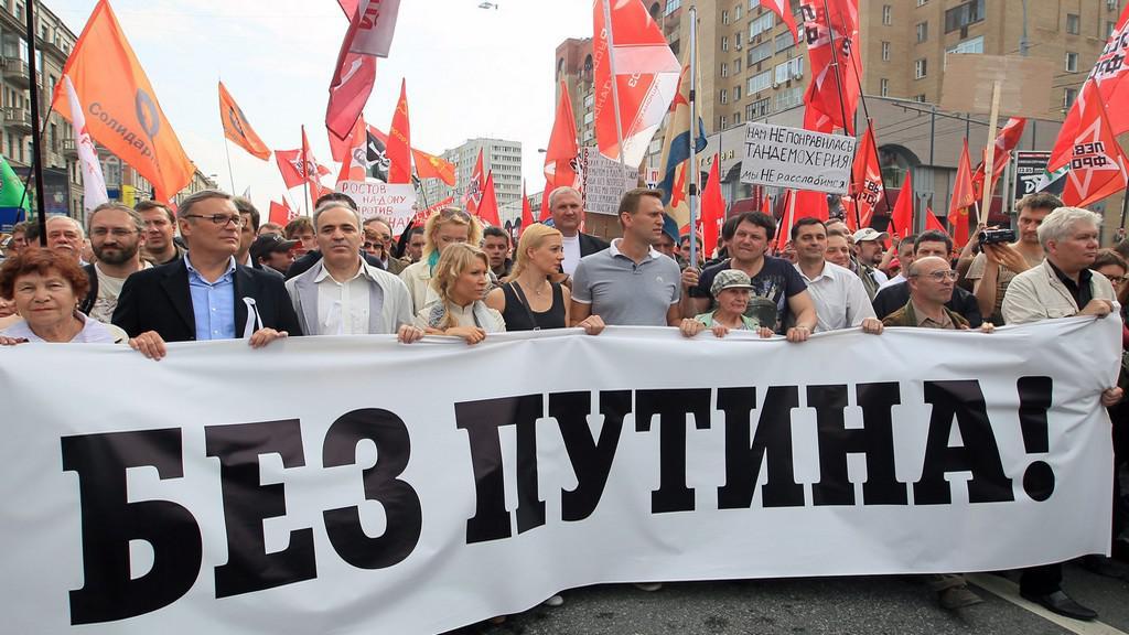 Demonstrace proti Putinovi