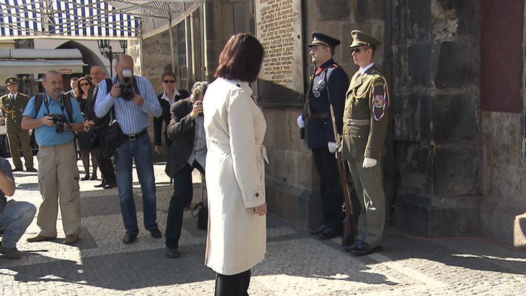 Miroslava Němcová na pietní akci k Pražskému povstání