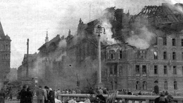 Praha v únoru 1945