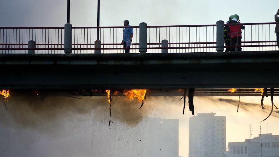 Požár lávky