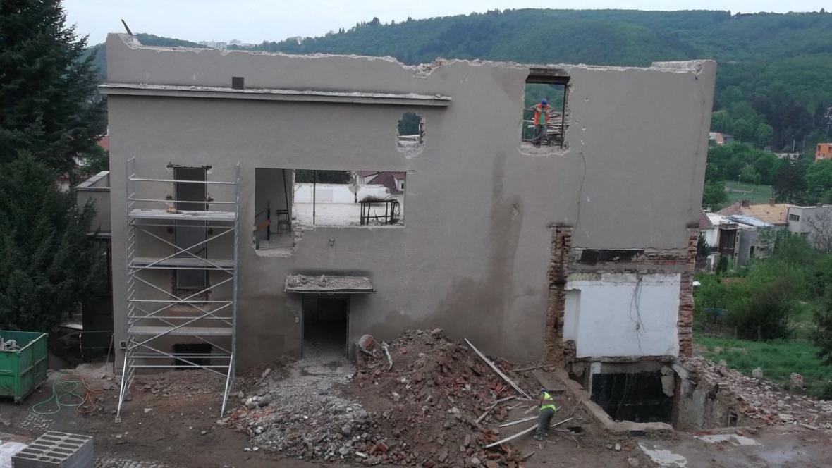 Stavební práce v Münzově vile
