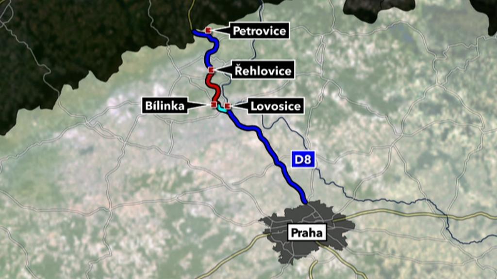 Dálnice D8 propojí Prahu se severem Německa
