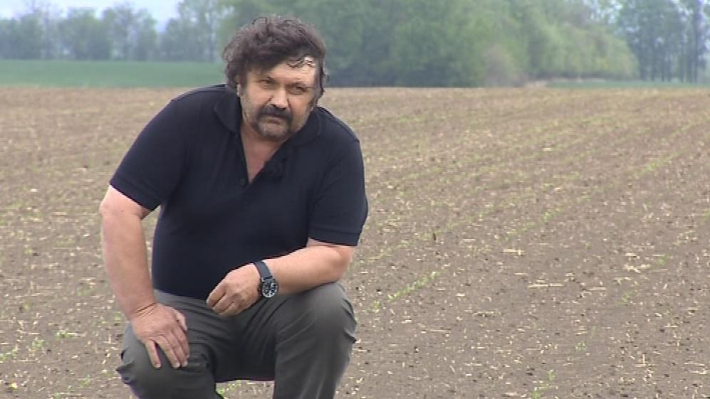Bronislav Formánek přišel o úrodu na 100 hektarech
