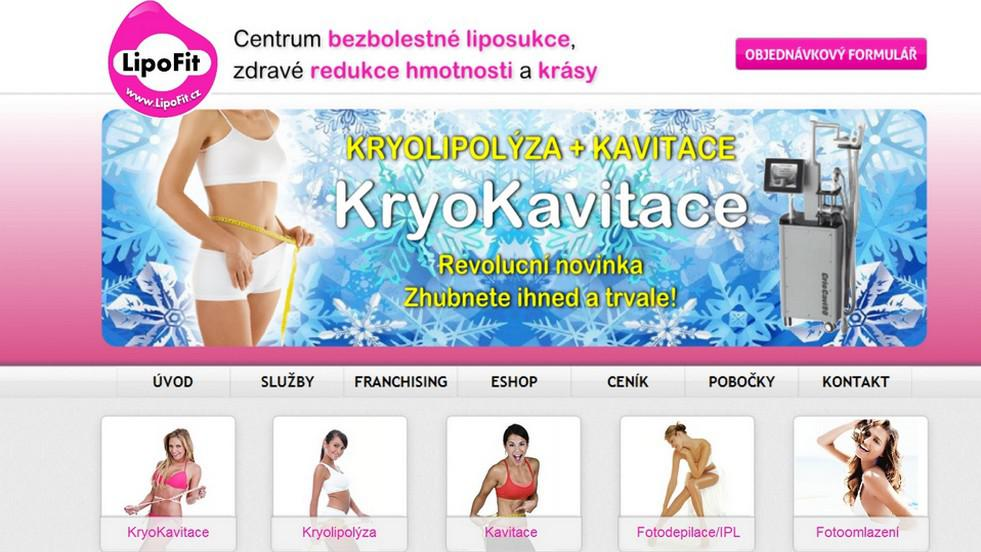 Webové stránky společnosti Lipofit