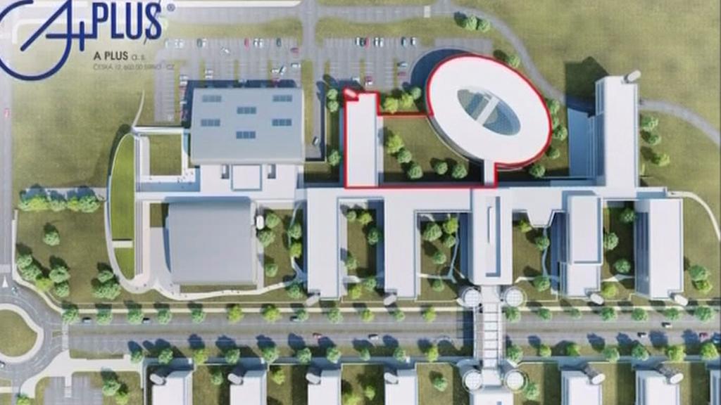 Plánované centrum institutu CEITEC