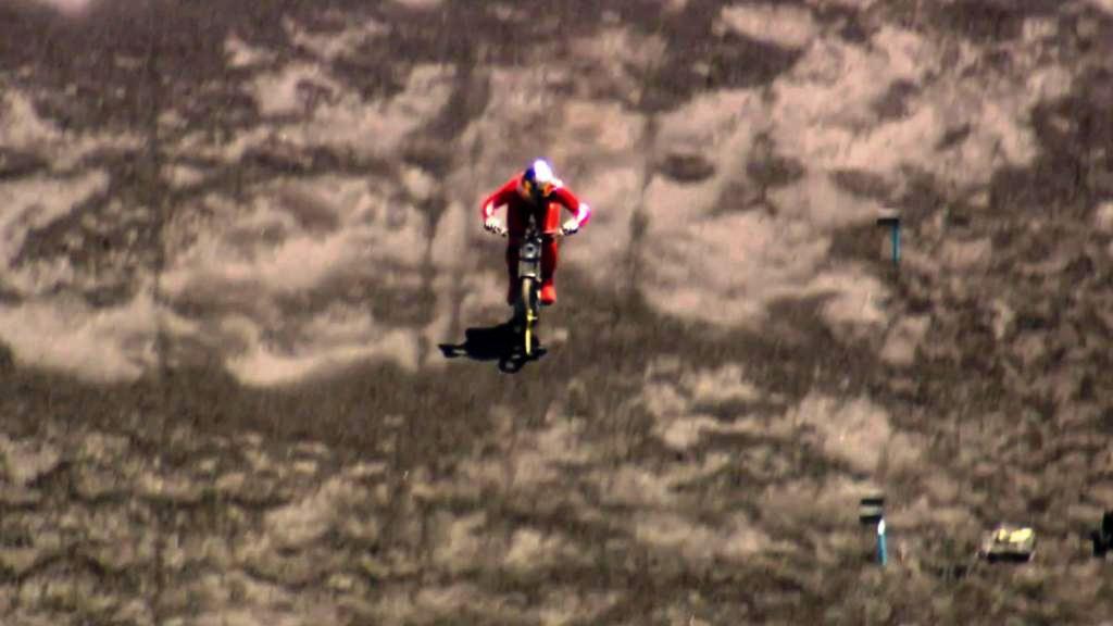 Cyklista za jízdy