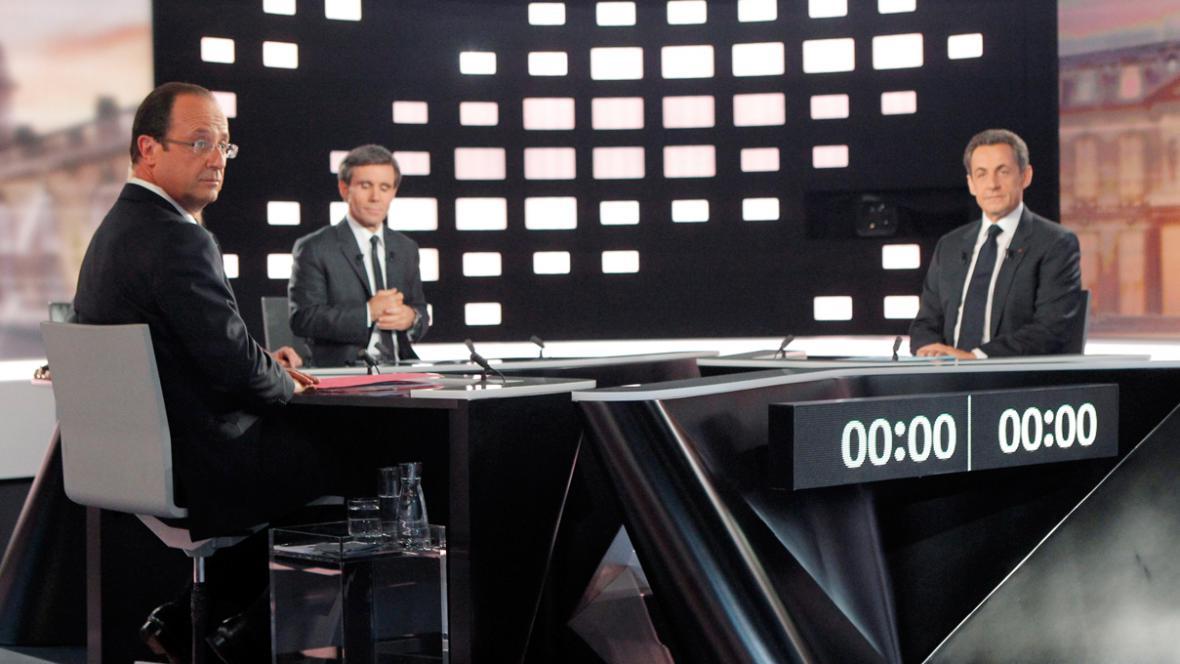 Předvolební duel Hollande - Sarkozy