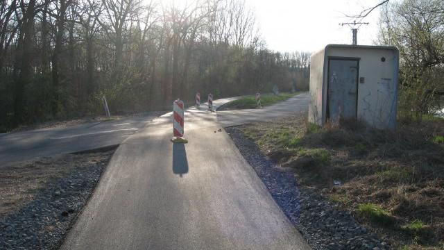 Cyklostezka z Kyjova do Mutěnic vede místem bývalé železnice