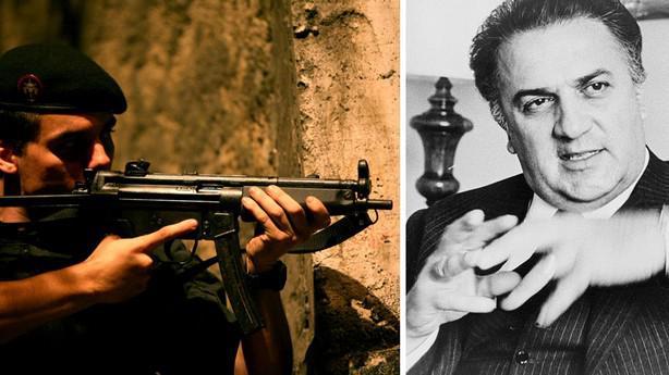 Wagner Moura ve filmu Elitní zabijáci (vlevo) / Federico Fellini (vpravo)