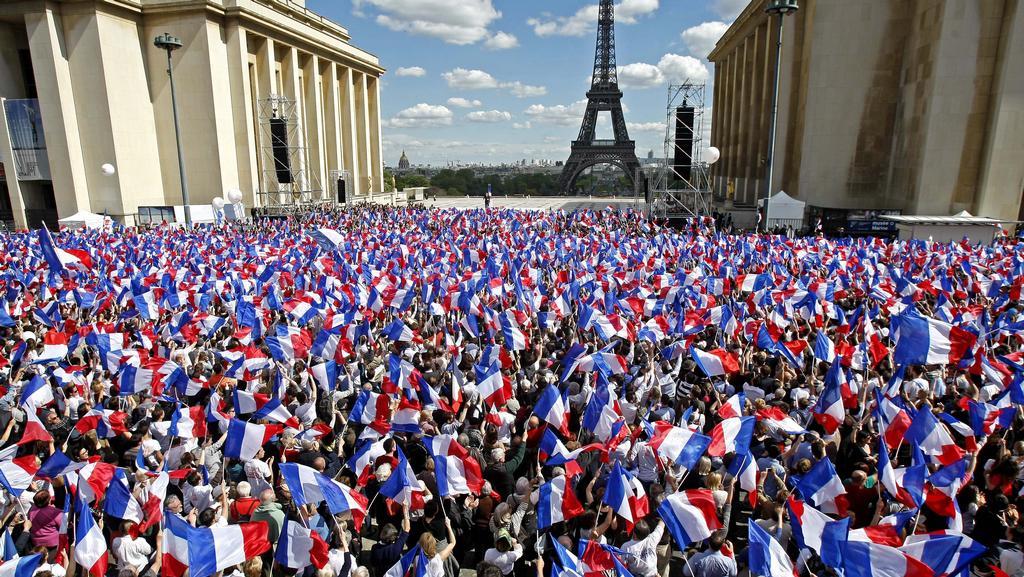 Mítink francouzského prezidenta Sarkozyho 1. máje