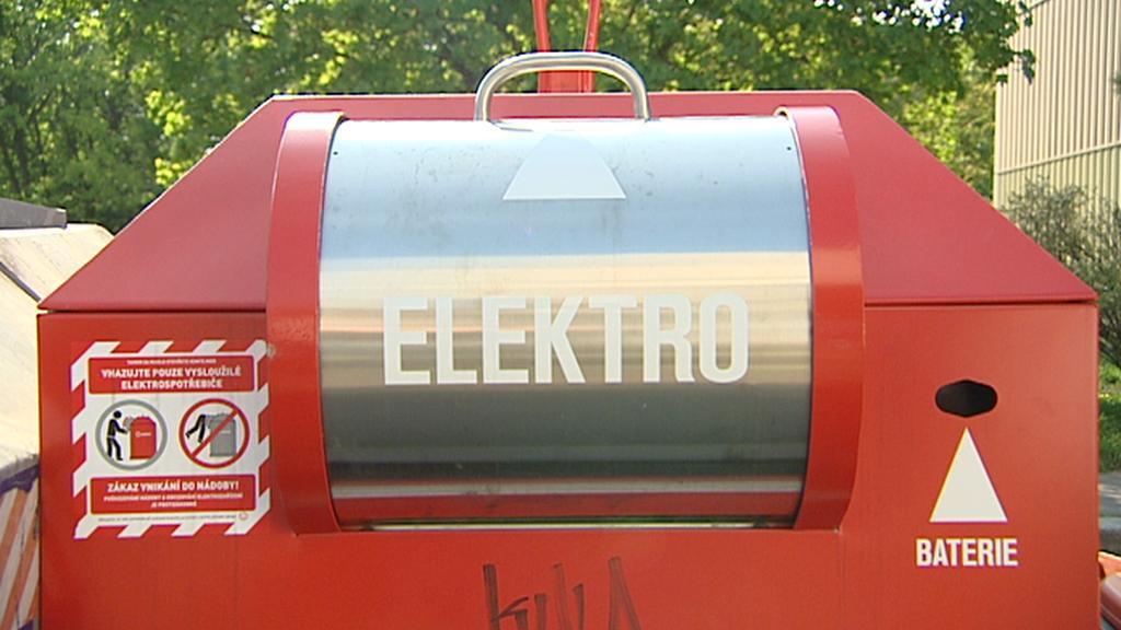 Kontejner na sběr elektroodpadu