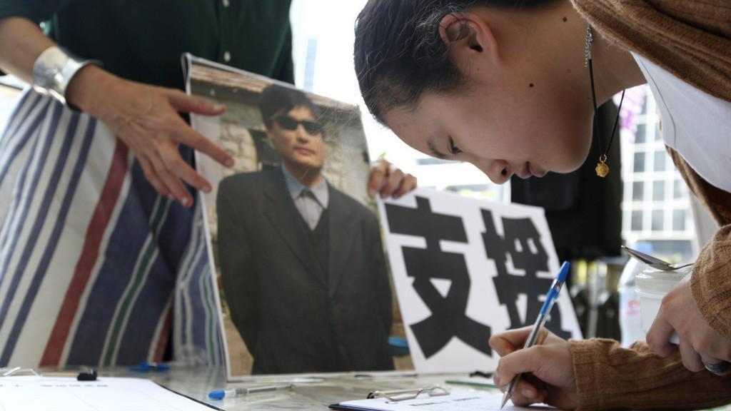 Podpora čínského disidenta
