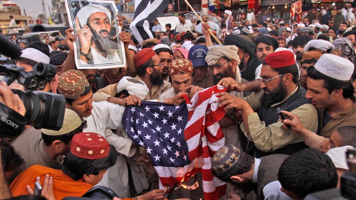 V pákistánské Kvétě se demonstrovalo za Usámu