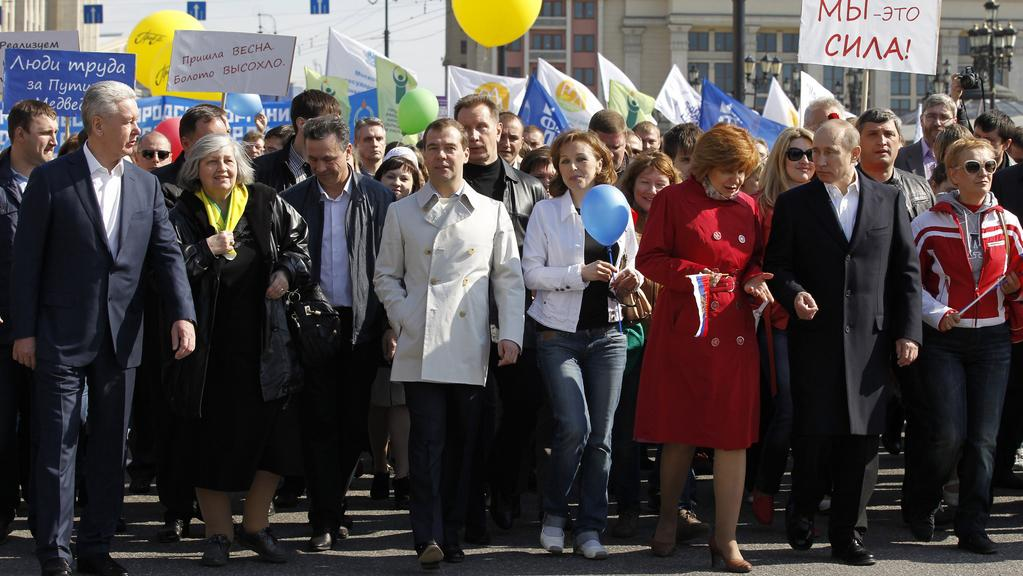 Prvomájový pochod v Rusku