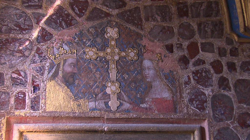 Karel IV. a jeho žena Anna Svídnická