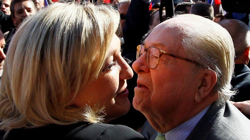 Marine Le Pen a její otec Jean-Marie Le Pen