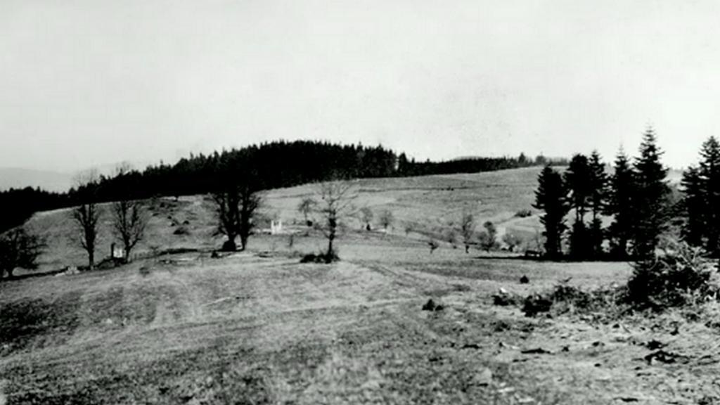 Místo osady po vypálení