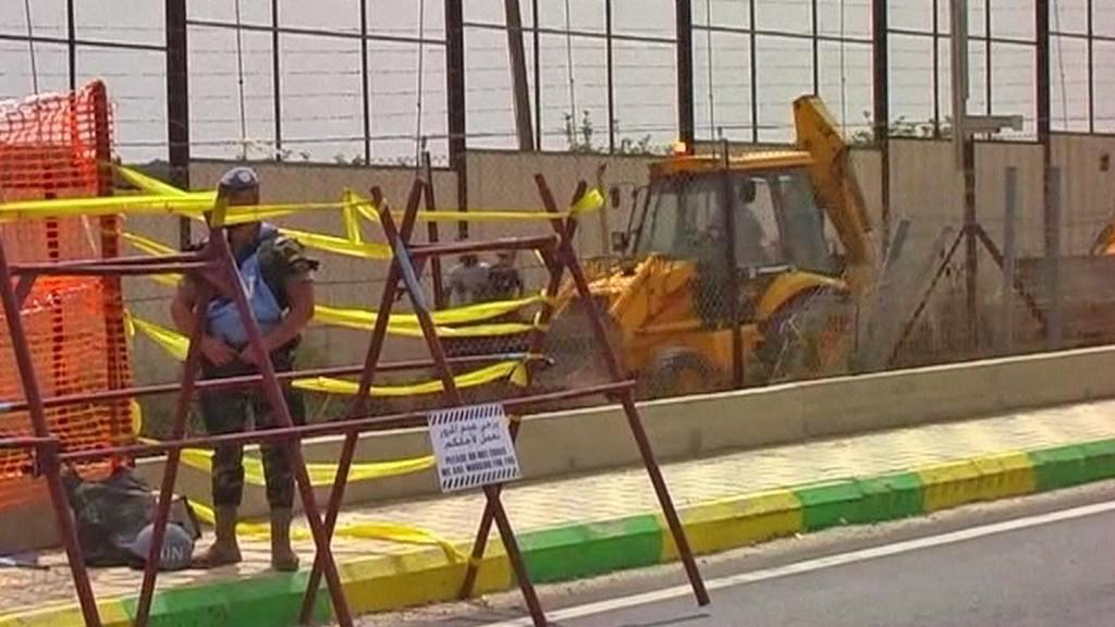 Stavba zdi na izraelsko-libanonské hranici