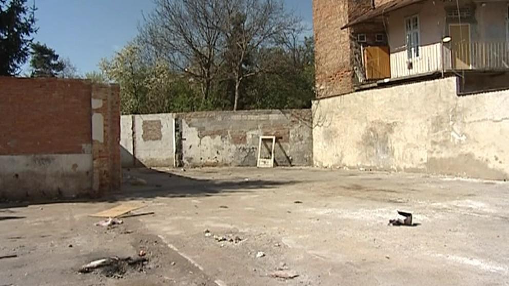 Bývalý areál Destily po demolici