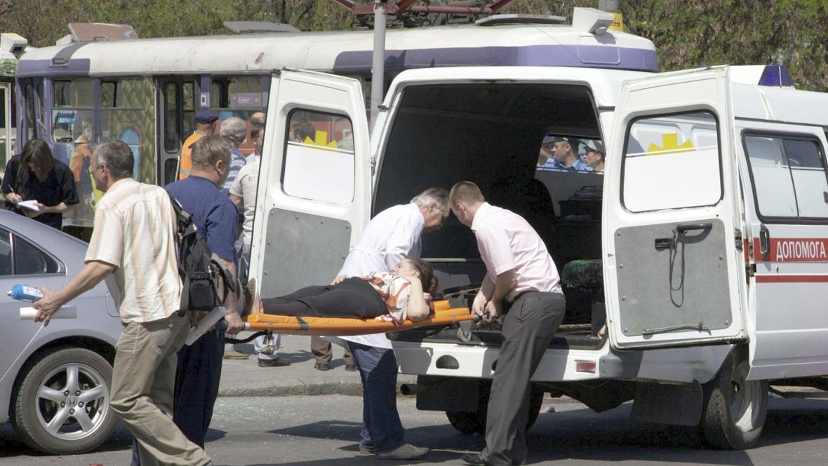 Zranění po výbuchu v Dněpropetrovsku