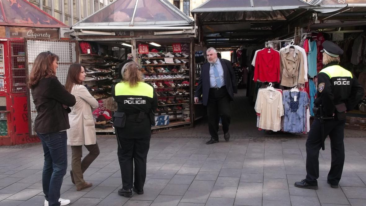 Kontrola tržnice Pohořelec v Brně