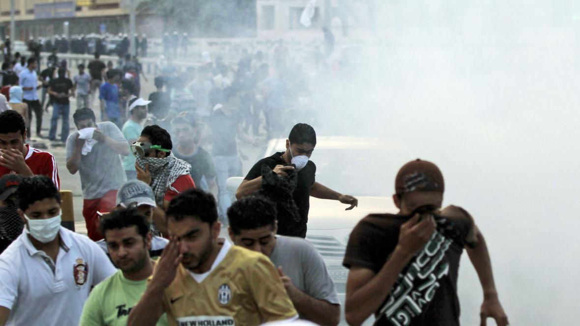 Zásah proti bahrajnským demonstrantům