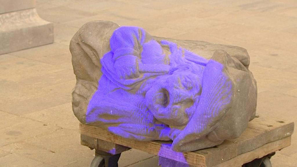3D skenování Braunových soch
