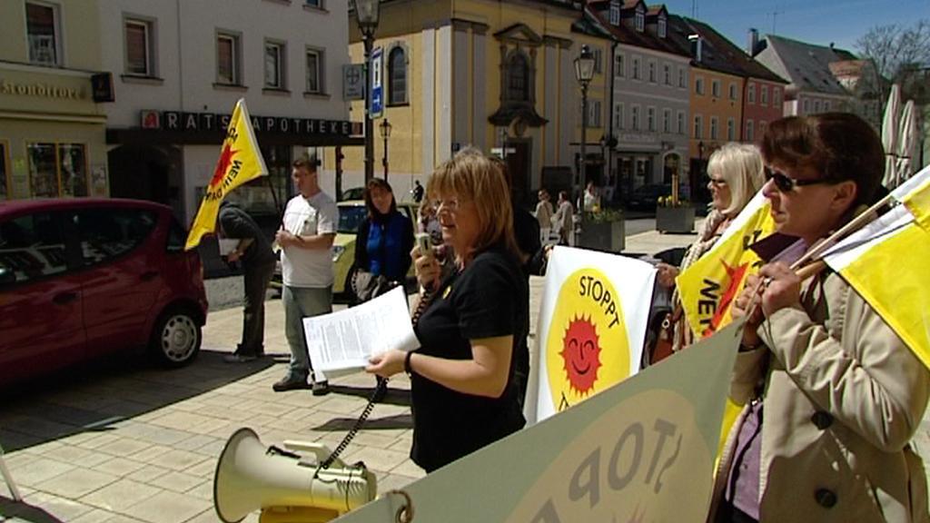 Protest v Marktredwitzu
