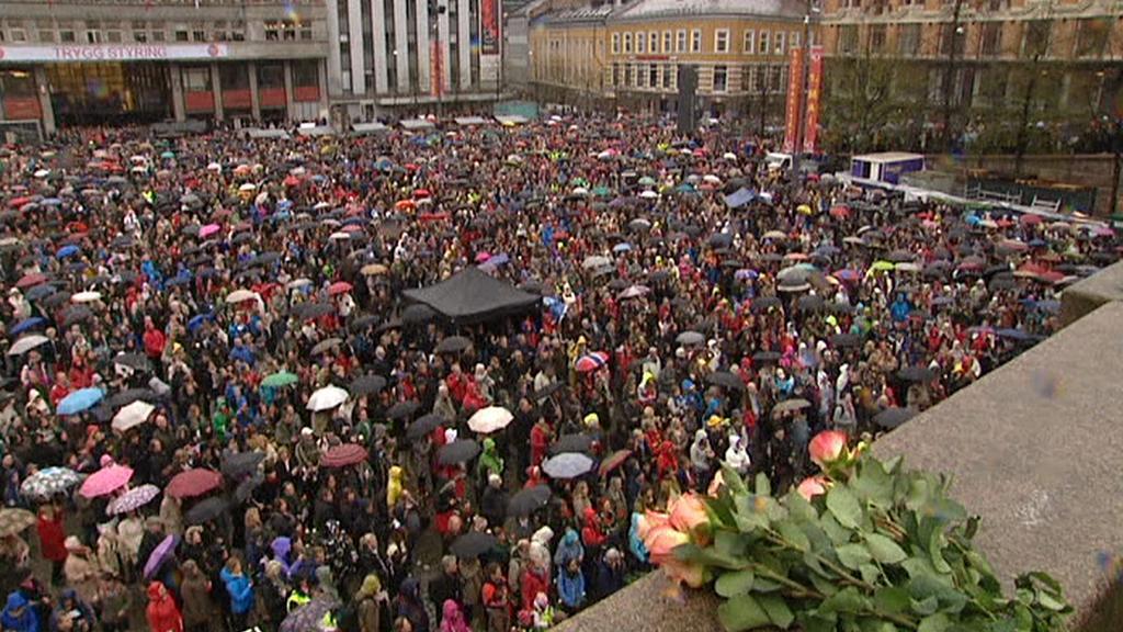 Shromáždění na protest Breivikovi