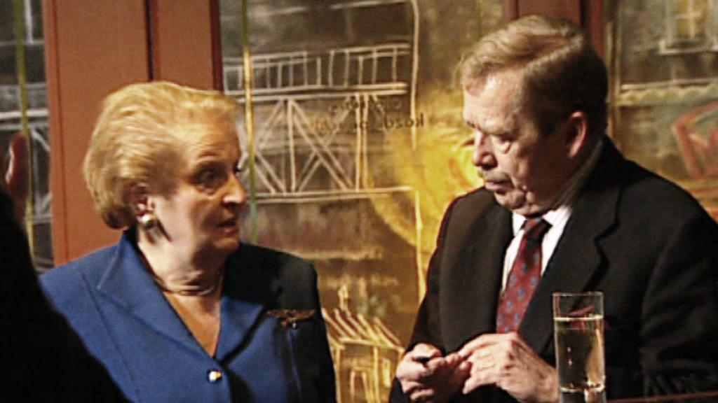 Madeleine Albrightová a Václav Havel