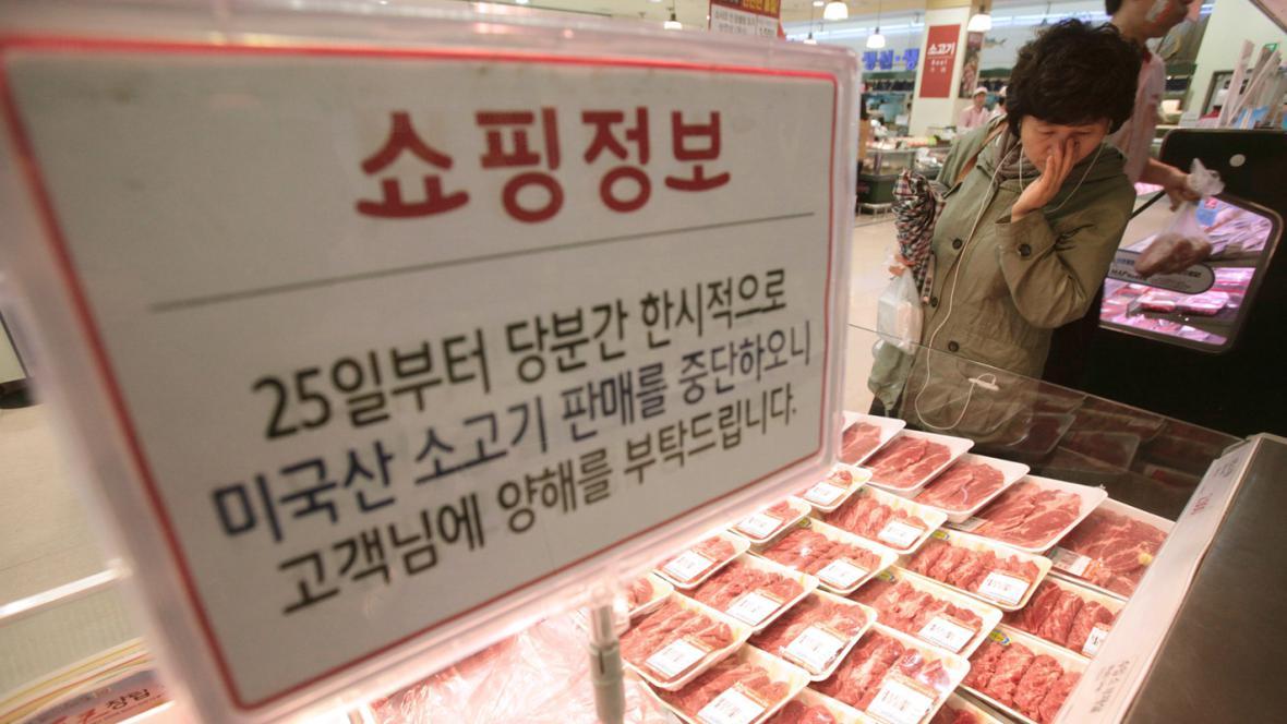 Hovězí maso v korejských obchodech