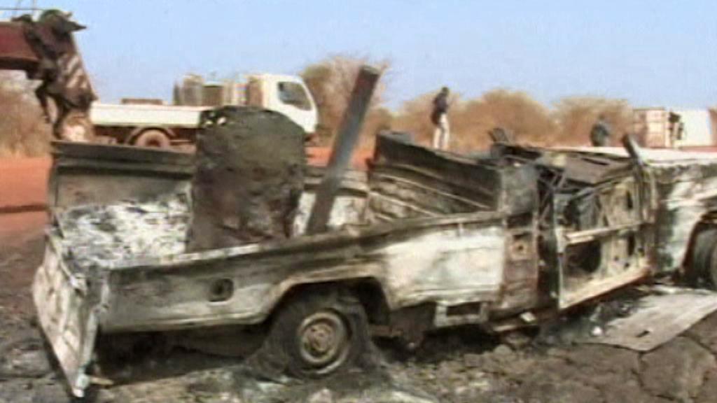 Následky bojů v Jižním Súdánu