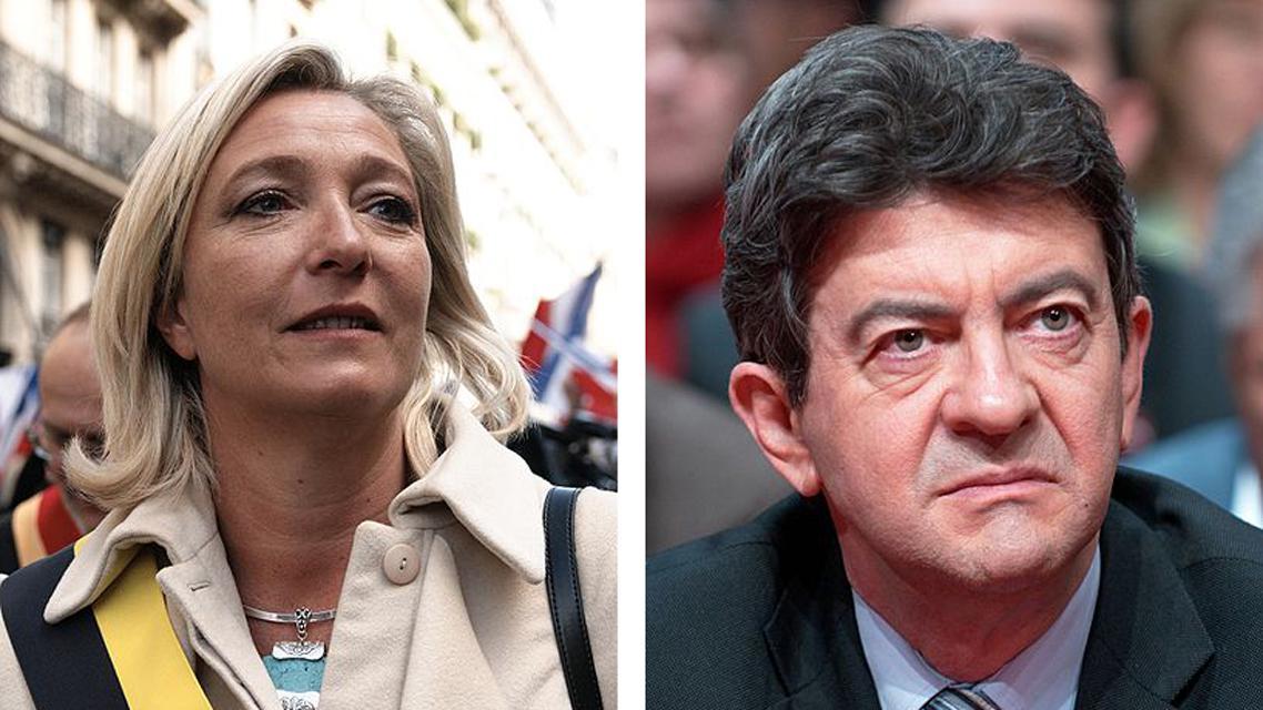 Marine Le Penová a Jean-Luc Melenchon