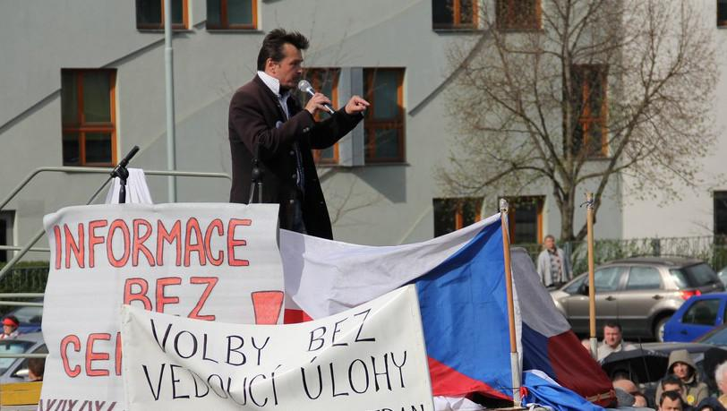 Demonstrace u ČT