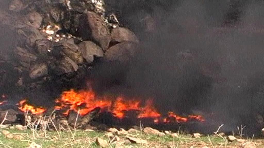 Hořící ropovod