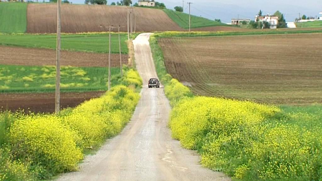 Zemědělský kraj v okolí Larisy