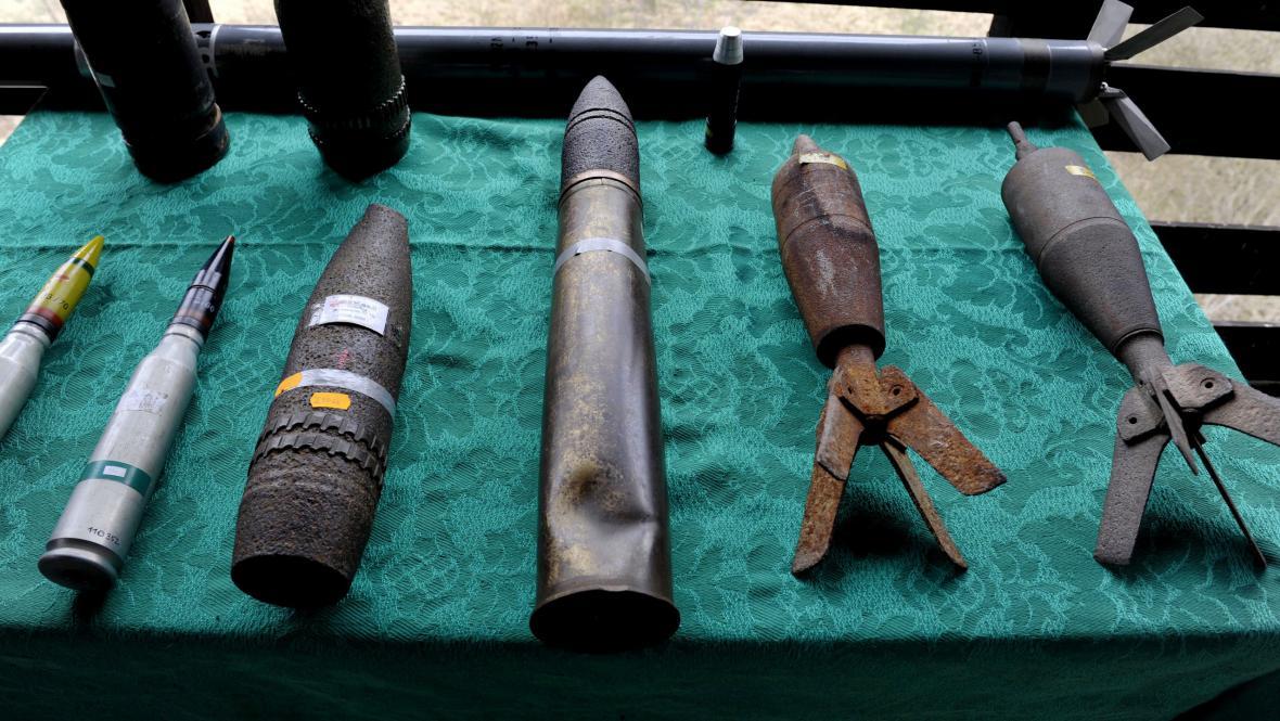 Pyrotechnici čekají, že naleznou tuto munici