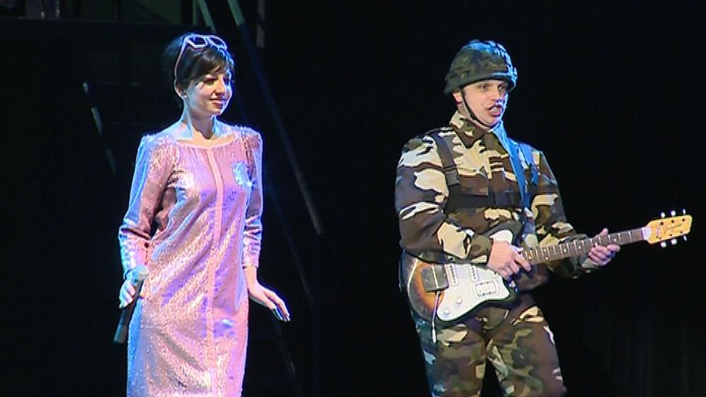 Anna Pospíchalová v roli zpěvačky Agáty