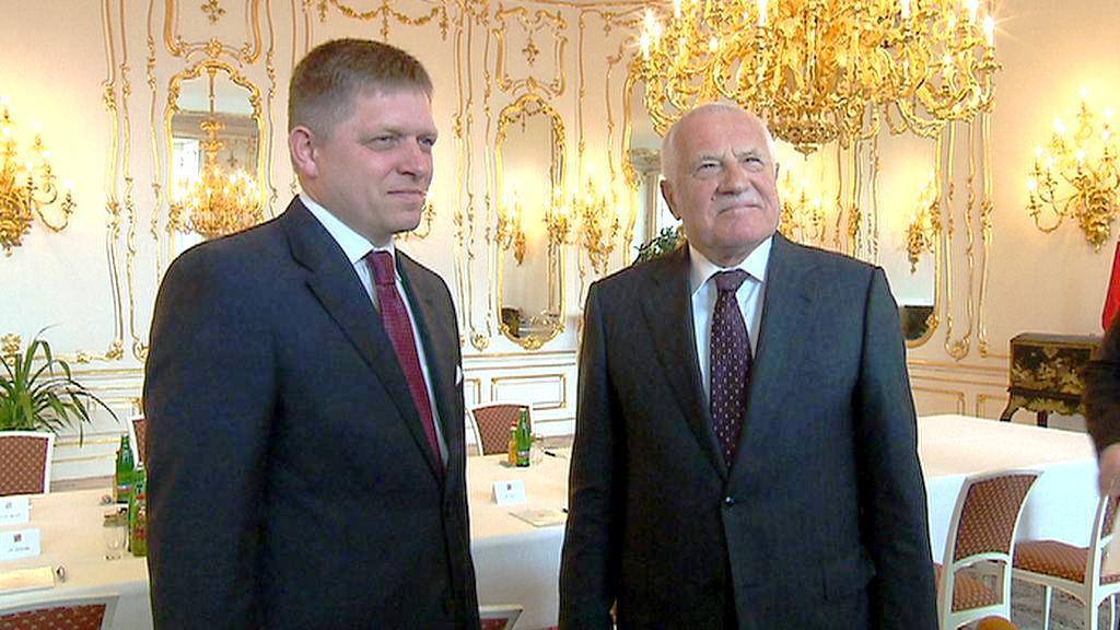 Václav Klaus a Robert Fico