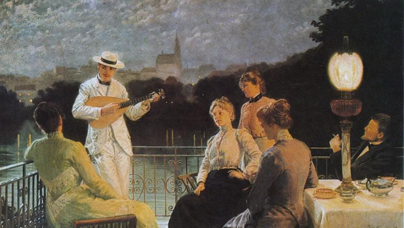 J. Schikaneder / Společnost na terase (1887)