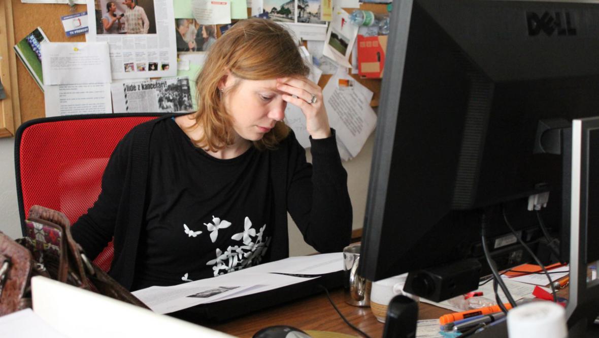 Erika Hníková přemýšlí nad zpracováním tématu